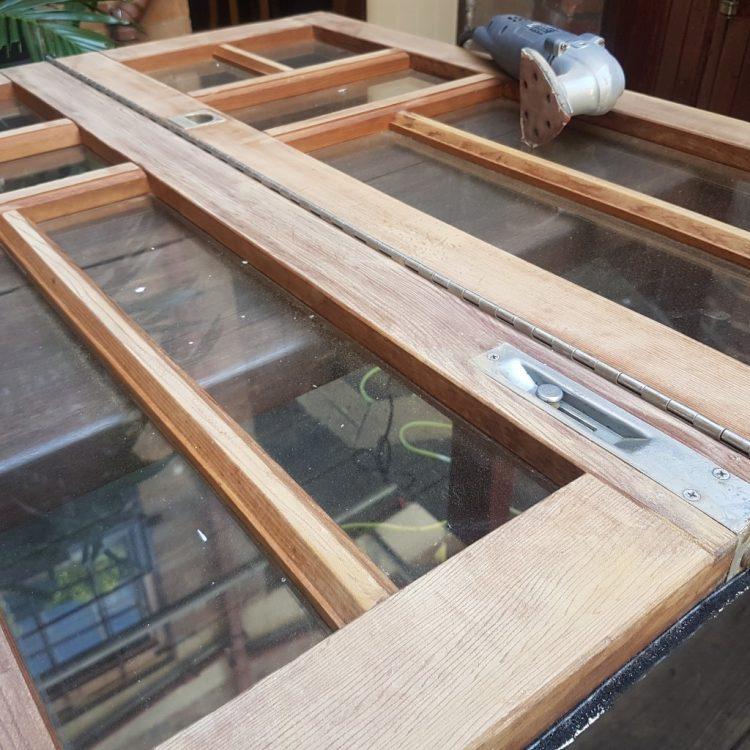 recycled timber bi fold windows