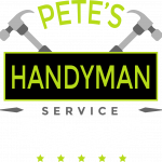 Pete's Handyman Logo Brisbane in white on Transparent Background